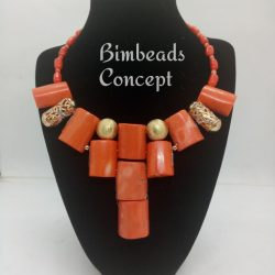 Bimbead Classic Coral-beads necklace