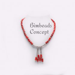 Bimbeads Coral- Corporate Casual-beads necklace