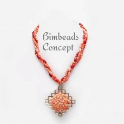Bimbeads Coral Pendant-beads necklace