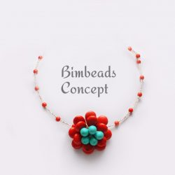 Bimbeads Coral Touquoise Corporate Casual-beads necklace