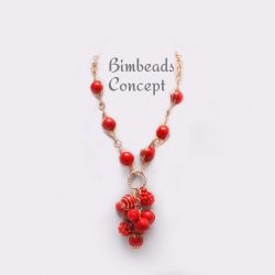Bimbeads coral- casual-beads necklace