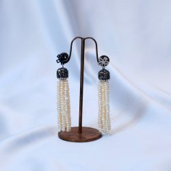 Bimbeads Pearl droppings Earrings
