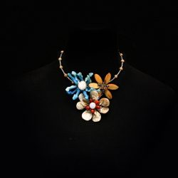 Bimbeads Shakara Petal Pearl and Shell Necklace A