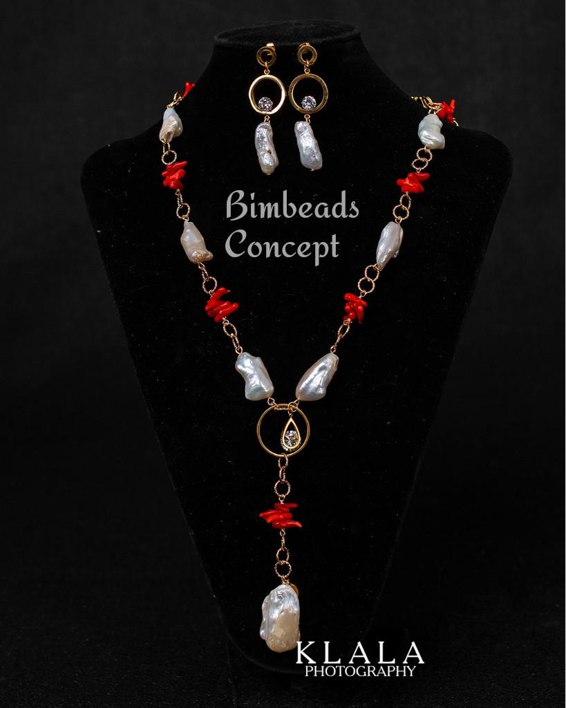 Coral beads Bimbeads