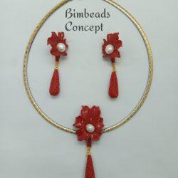 Bimbeads coral set
